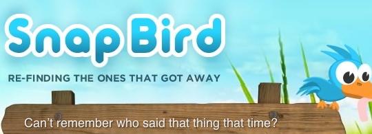 Des recherches différentes avec Snapbird